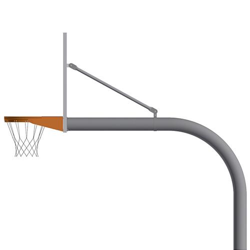 """4½"""" Gooseneck Post (w/ Fan Board – Playground Goal)"""