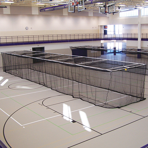 Ceiling Suspended Retractable Baseball Batting Cage | Jaypro Sports  Equipment