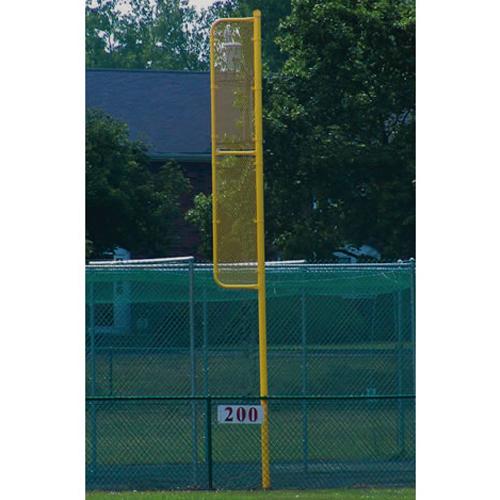 20' Professional Foul Pole (Baseball – Surface Mount – Yellow)