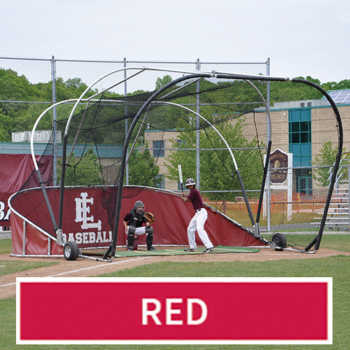Grand Slam Portable Batting Cage (Red)