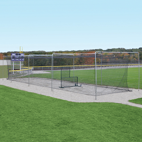 70' Surface-Mounted Outdoor Batting Tunnel Frame