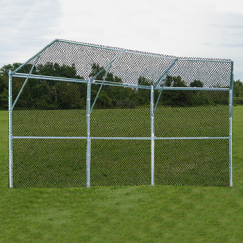 Permanent Baseball/Softball Backstop (3 Panel, 1 Center, 2 Wing)