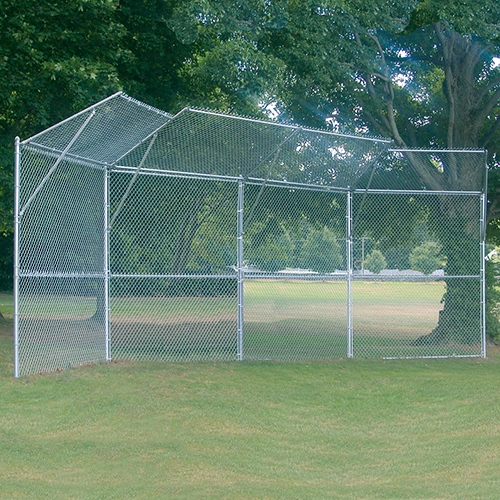 Permanent Baseball/Softball Backstop (4 Panel, 2 Center, 2 Wing)