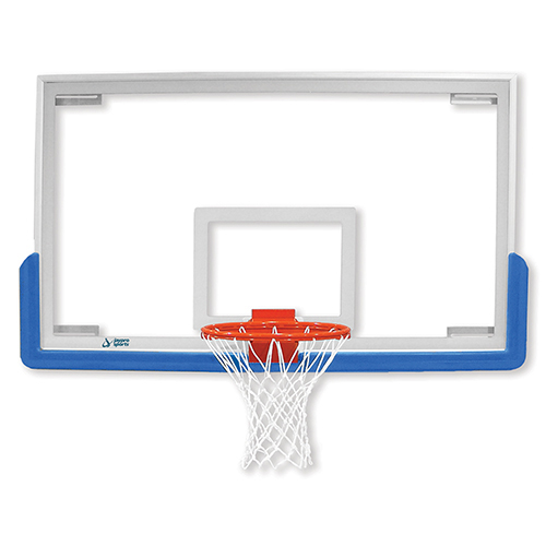 "Unbreakable Rectangular Glass Backboard 54""x42"""