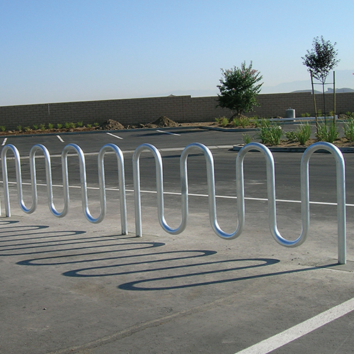 Wave Bicycle Rack (9 Capacity – Surface Mount – Galvanized)