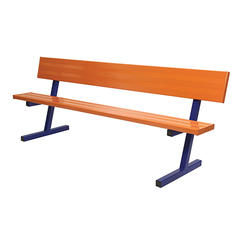 15 Powder Coated Portable Players Bench W Back Jaypro Sports Equipment