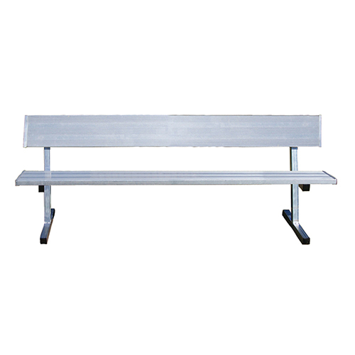 15 Player Bench W Seat Back Permanent Natural Finish