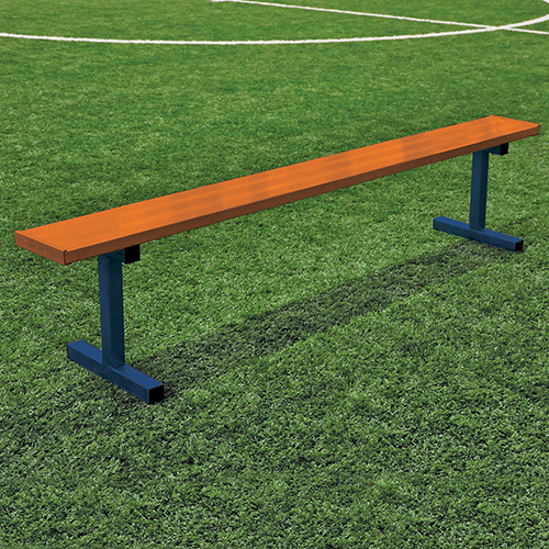 7 Player Bench W O Seat Back Portable Powder Coated Jaypro Sports Equipment