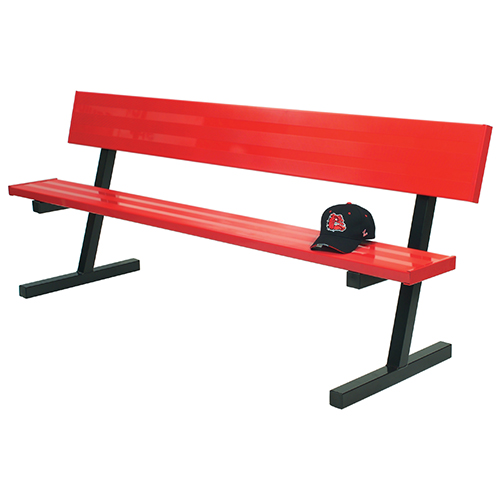 7 Player Bench W Seat Back Portable Powder Coated Jaypro Sports Equipment
