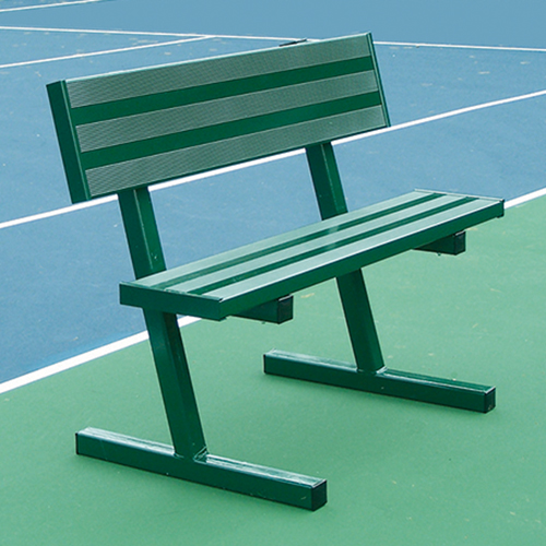 4' Courtside Tennis Bench (Powder Coated)