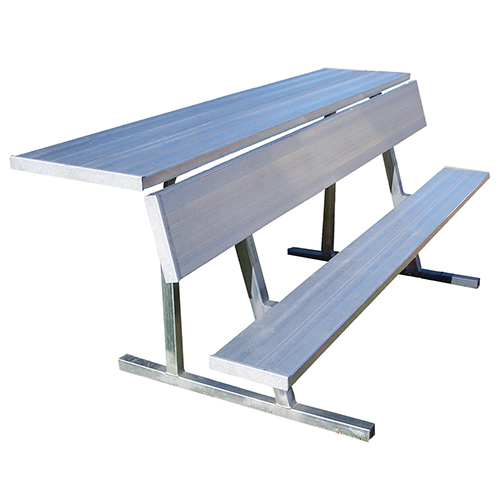 7 Player Bench With Shelf Natural Finish Jaypro Sports Equipment