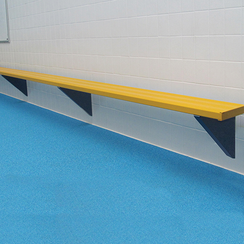 27' Wall-Mounted Player Bench (Powder Coated)