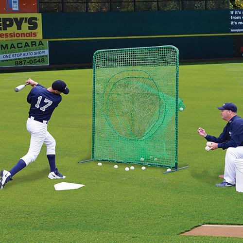 Portable Soft Toss Batting Practice Screen Jaypro Sports