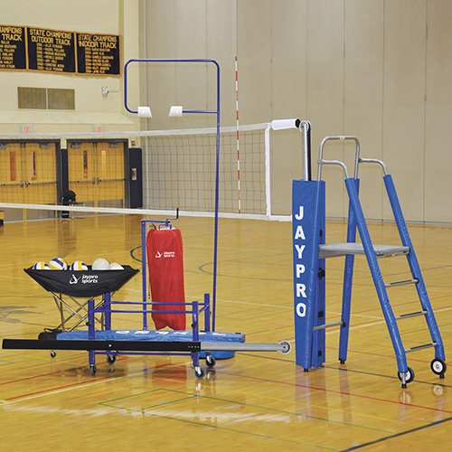"3"" Featherlite™ Deluxe Volleyball System Package"