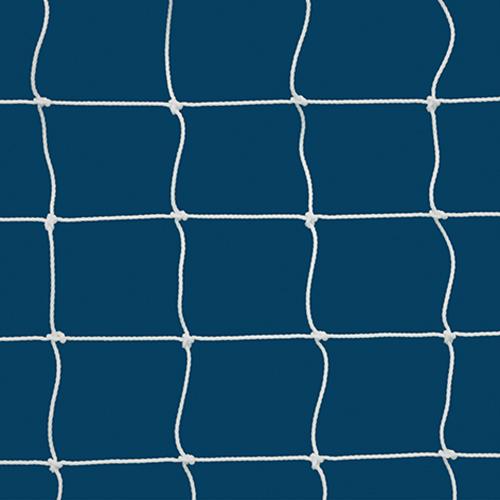 """3mm 4"""" Sq Mesh White Soccer Net 7×21"""
