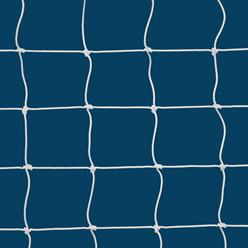 "3mm 4"" Sq Mesh White Soccer Net 4½x9"