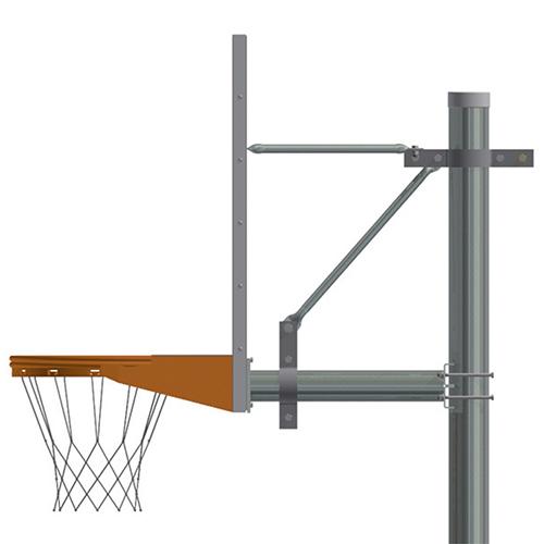 "5-9/16"" Straight Post (w/ Acrylic Board – Breakaway Playground Goal)"