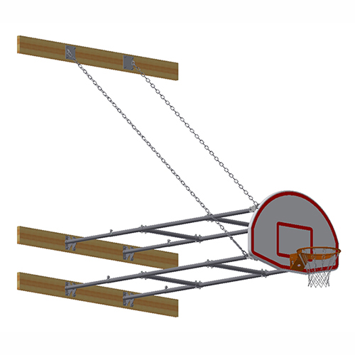 Stationary Backstop System – w/ Aluminum Fan Backboard (8'-10' Ext)