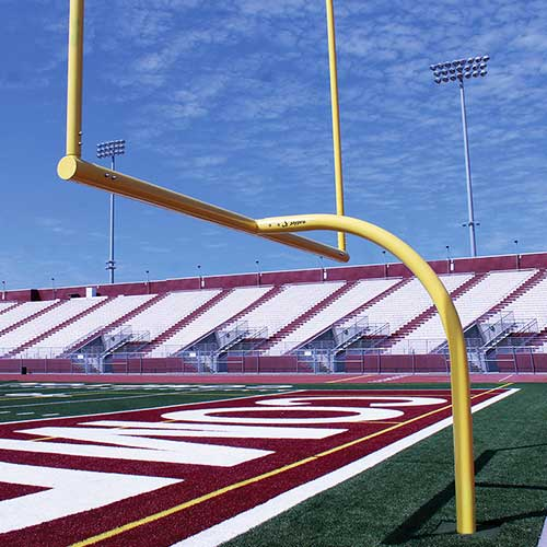 MAX-1™ Football Goal Post (Leveling Plate – 6'Ox30'U – Collegiate)
