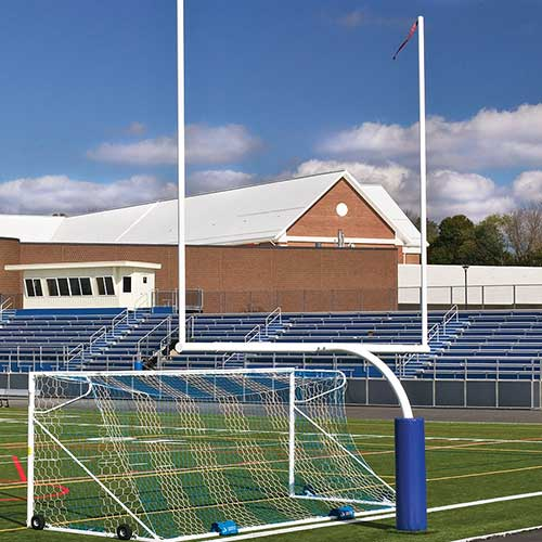 FBGP-620 Economical Steel Football Goal Post White