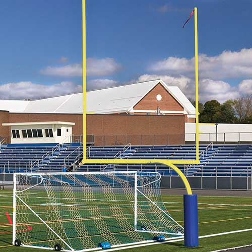 Steel Football Goal Post (Semi/Perm – 6'Ox20'U – High School – Yellow)
