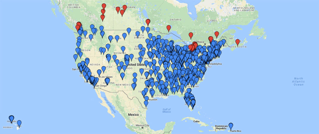 Find A Dealer Jaypro Sports Equipment - Map of us sports teams