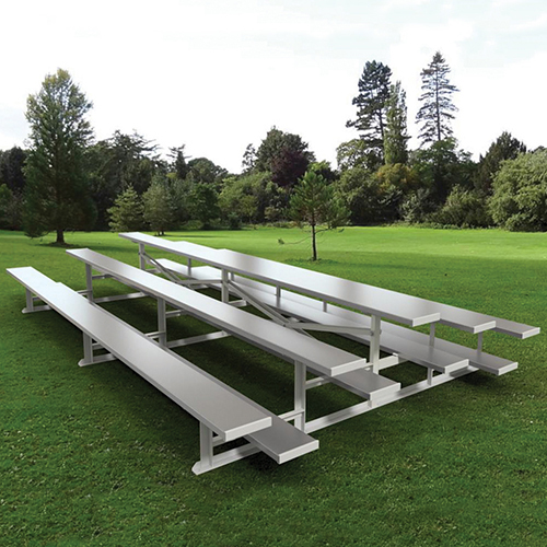 7½' Back-to-Back Standard Bleacher (3 Row – Natural Finish)