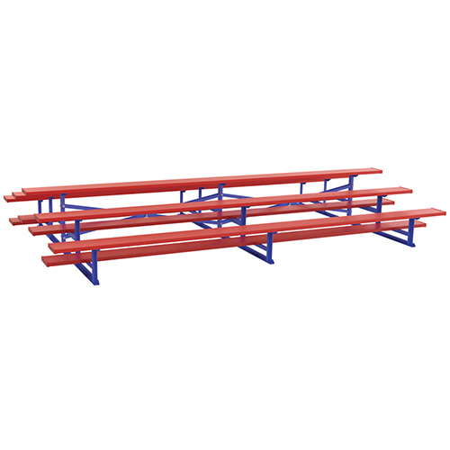 7½' Back-to-Back Standard Bleacher (3 Row – Powder Coated)