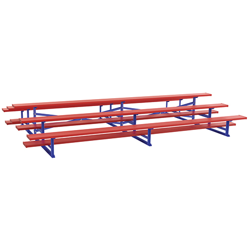 15' Back-to-Back Standard Bleacher (3 Row – Powder Coated)