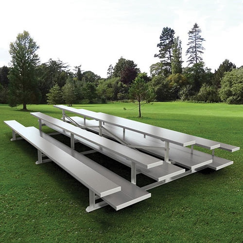 21' Back-to-Back Preferred Bleacher (3 Row – Natural Finish)