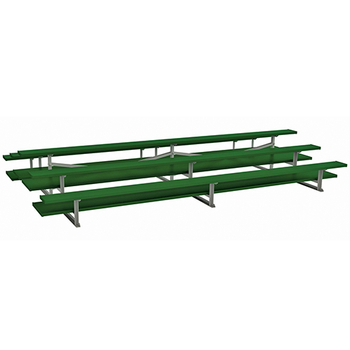 21' Back-to-Back Preferred Bleacher (3 Row – Powder Coated)