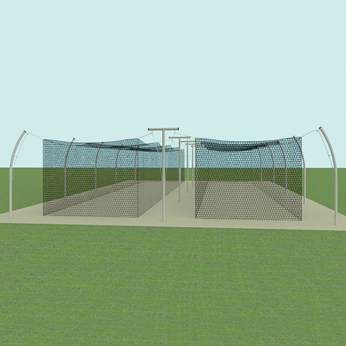 55' Tandem Professional Outdoor Batting Tunnel Frame