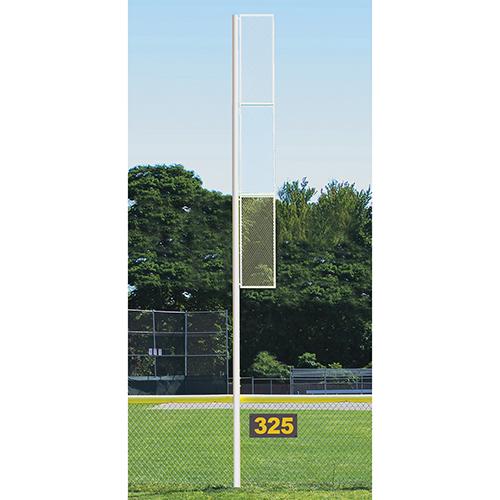 20' Collegiate Foul Pole (Softball – Semi/Perm – White)