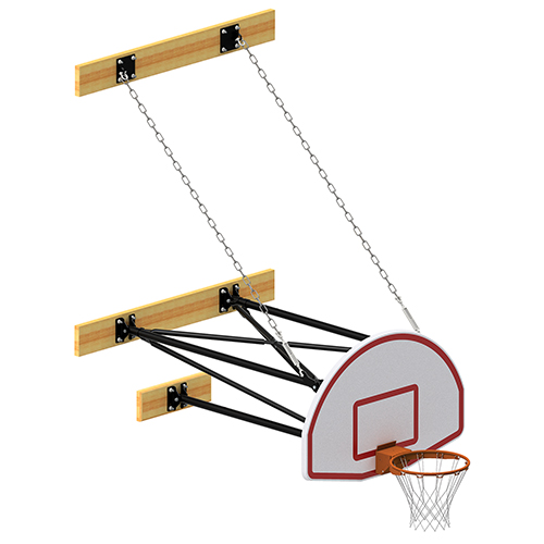 3-Point Fan Board Wall Mount Shooting Station (2′-3½' Ext)