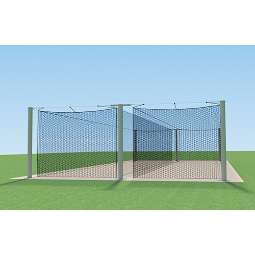 70′ MEGA Outdoor Batting Tunnel Frame (Double)
