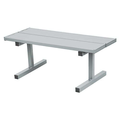 Jaypro 5′ Courtside Double Tennis Bench